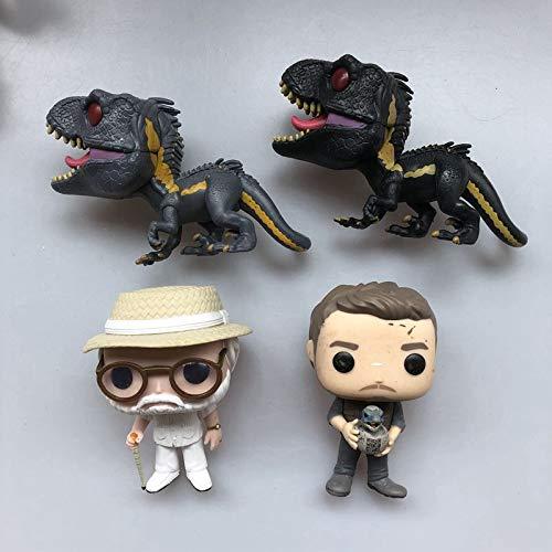 YUNXING Juguete Modelo Dinosaurio 4 Piezas Original Pop De Segunda Mano Jurassic World Indoraptor Dinosaur John Owen Baby Vinyl Figura De Acción Modelo Coleccionable Juguete Suelto