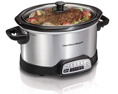 Hamilton Beach Programmable 5 Quart Slow Cooker (33453), Black