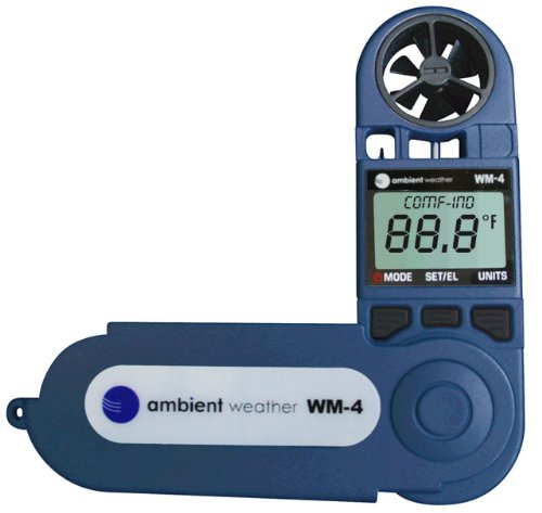 Product Image 8: Ambient Weather WM-4 Handheld Weather Station w/Windspeed, Direction, Temperature, Humidity, Compass, Dew Point, Comfort Index, Psychrometer