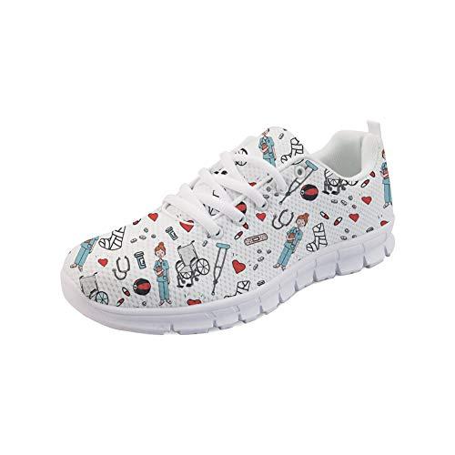 Showudesigns Nurse Damen Sportschuhe Laufschuhe Turnschuhe Sneakers Fitness Krankenschwester Schuhe