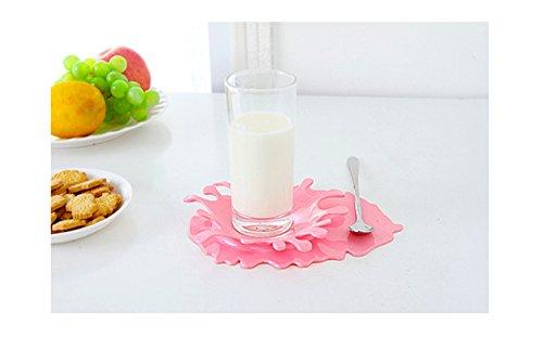 Flee Spoon Rest Funny Design Spoon Utensil Coaster Home Decor (Pink)