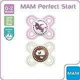 MAM Perfect Start 70584722 - Chupete de silicona (de 0 a 2 meses, previene los...