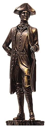 Estatua LQX Estatuilla Napoleón Bonaparte Regalos religiosos Decoración del hogar Resina Escultura Escritorio Decoración Francesa Líder Bronce Figuras