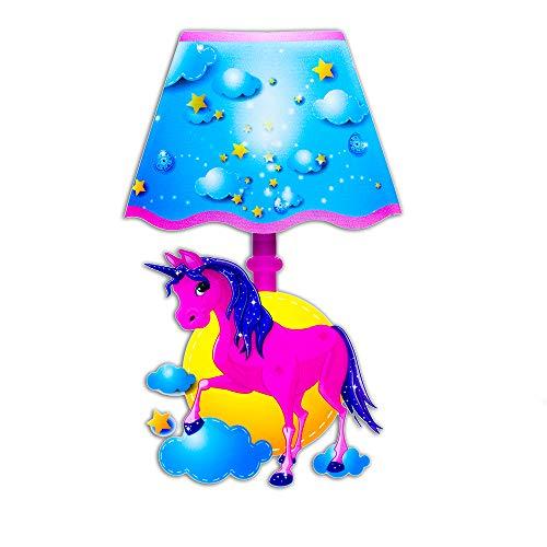Preisvergleich Produktbild The Glowhouse Einhorn Lampe Wandaufkleber mit LED Licht Kinder Nachtlicht