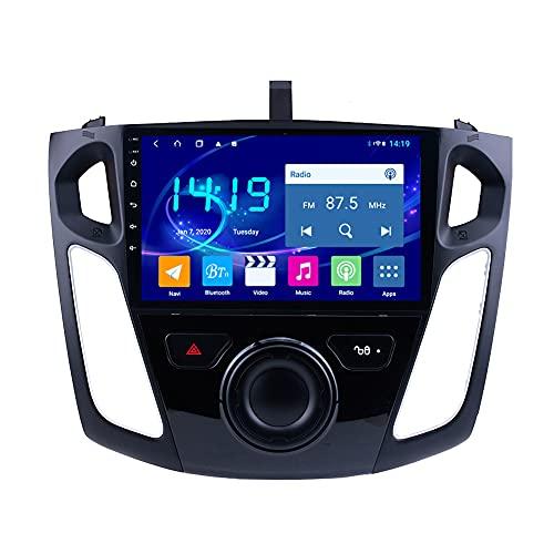 Kilcvt 4g + 64g IPS 9 Pulgadas Android 10 Car DVD Multimedia GPS Sistema De Navegación, para Ford Focus 2012-2015 Soporte Control del Volante/WiFi/BT/Multimedia/Mirror Link