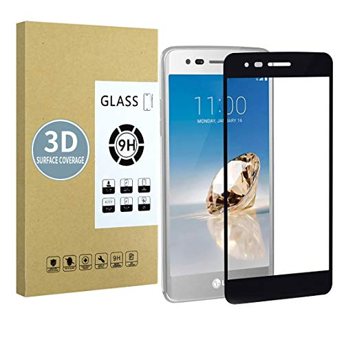 E-Hamii Protector de Pantalla Compatible con LG K8 2017[Negro],[Alta definición][Anti arañazos],Cristal Templado...
