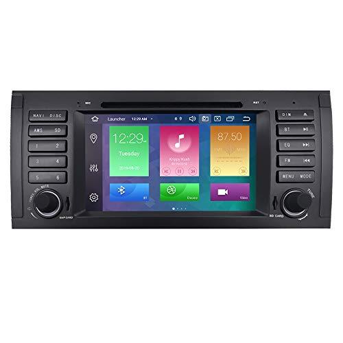 Android 10 7 Zoll Car Radio DVD Player für BMW 5 Series E39/BMW X5 E53/BMW M5/BMW 7 Series E38 unterstützung Radio RDS Spiegel link lenkradsteuerung Bluetooth dab + tpms rückfahrkamera subwoofer