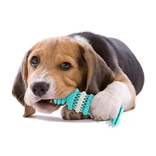 Andiker Hunde-Kauspielzeug Knochen, Hundespielzeug Knochen zur Zahnreinigung, Futterspender für Hundefutter, weicher, langlebiger bissfester Gummi