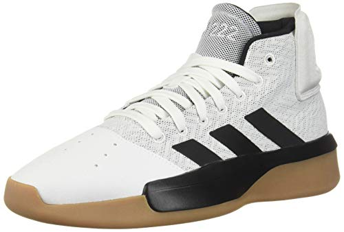 adidas Men's Pro Adversary 2019, White/Black/Grey, 10.5 M US