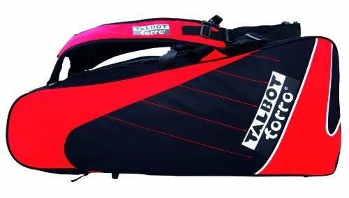 Talbot Torro Badminton Tasche Thermo Racketbag, Black-Red, 449215 by Talbot Torro