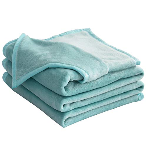 LIANLAM King Size Fleece Blanket Lightweight Super Soft and All Season Warm Fuzzy Plush Cozy Luxury Bed Blankets Microfiber (Turquoise, 104'x90')