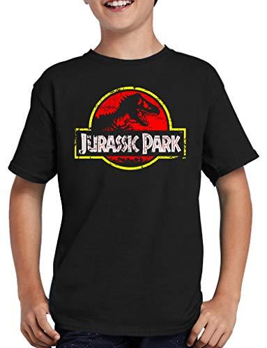 Jurassic Park Distressed Logo - Camiseta infantil Negro 122/128 cm