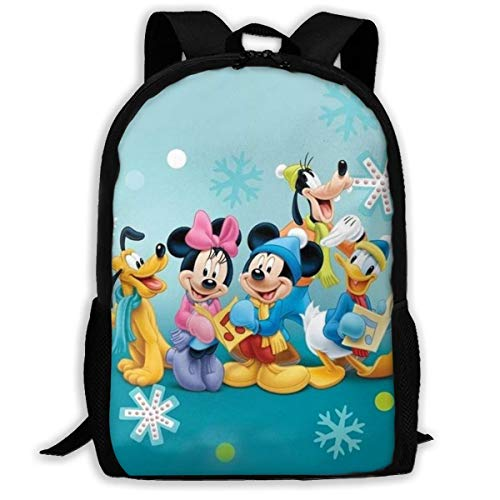 wobuzhidaoshamingzi rugzak, casual, Donald Duck Print Zipper School Bag Travel Daypack rugzak 13-N8