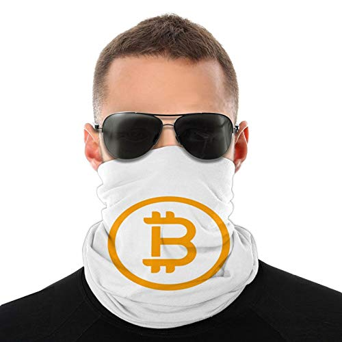 ZVEZVI Bufanda tubular con logotipo de Bitcoin para hombres y mujeres mascarilla turbante pasamontañas sombreros multifuncionales calidez para el cuello 20 * 10 Pulgadas