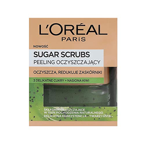 L'Oreal Paris Pure Sugar Scrub Purify & Unclog mit Kiwi, 1er Pack (1 x 50 ml)