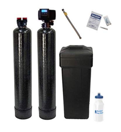 FLEX LINE ADAPTER INCLUDED-AFWFilters Built Fleck 5600SXT 48,000 Grain Water Softener with Upflow Carbon Filter (10% Resin with Carbon)