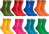 gigando – Socken Herren Baumwolle Uni Farben 4er oder 8er Pack in Premiumqualität – Strümpfe für Anzug, Business & Freizeit - olive, orange, rosa, blau, rot, gelb, petrol, grün Gr. 39-42