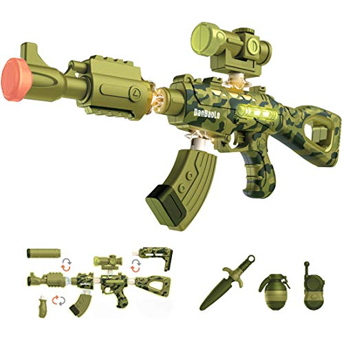 Green Color - Magnetic DIY Build Toy Gun Over 100 Toy Gun Models with different Sounds Light {Expires 1/21} [Coupon: 40V3L7AU] (45% off) - $27.49