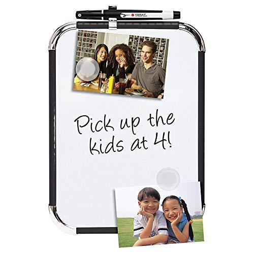 Office Depot Magnetic Dry-Erase Board, 8 1/2' x 11', White Board, Black Plastic Frame