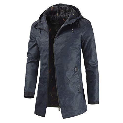 PPPPA Unisex Casual Kapuze Poncho Cape Cloak Herren Loose Tops Unregelmäßiger Saum Mode Mantel Hoodie Pullover mit Tasche Winter Poncho Übergroße warme tragbare Decke Cape Wraps Schal lang