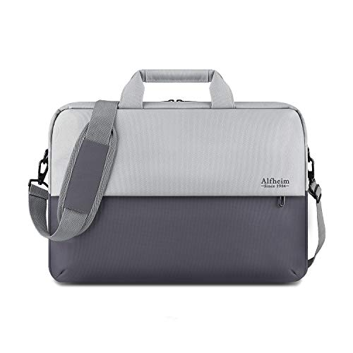 Alfheim Premium Fashion Casual Stitching Schulter-Laptoptasche mit strapazierfähigem wasserabweisendem Oxford-Stoff Leichtgewicht für Frauen/Männer Passend für 15,4-16 Zoll Notebook