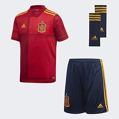 adidas Selección Española Temporada 2020/21 Conjunto Primera equipación, Unisex, rojvic, 140