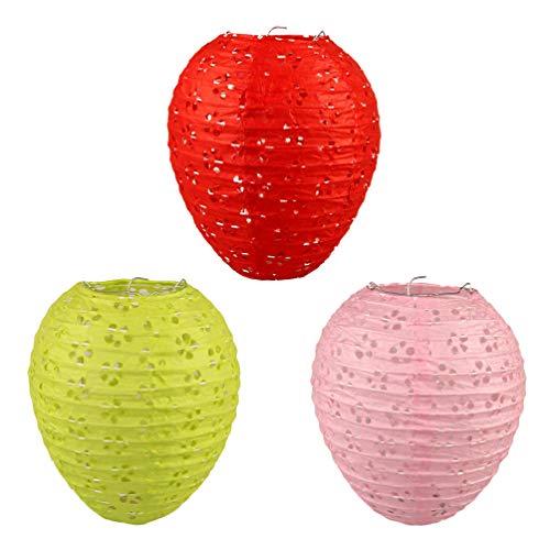 OSALADI 3 Stücke Ei Ostern Licht Hängen Papier Lampen Tragbare Papier Lampen für Kinder Ostern Party Decor Suppliesng (Zufällige Farben)