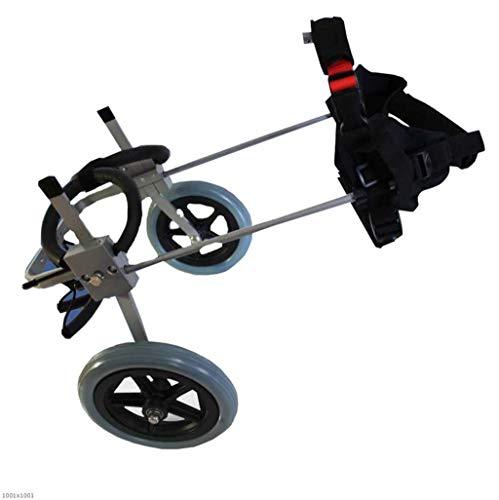 OSL Silla de ruedas para perros Perro viejo Andar Scooter Perro discapacitado Asistido con la pierna trasera Ejercicio Coche Mascota Cochecito asequible OSL/X/Small