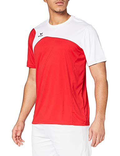 Erima Club 1900 2.0 T-Shirt Homme, Rouge/Blanc, FR (Taille Fabricant : XL)