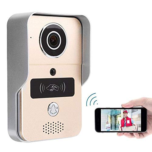 Inteligente WiFi puerta Bell video, video timbre timbre de la puerta 720P con WiFi metal inteligente Intercome nocturna por infrarrojos Visual Visión tarjeta Reader100-240V for las familias, oficinas,