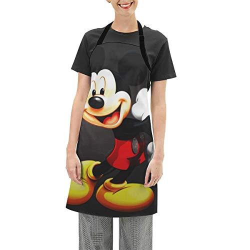 HADIHADI Tablier de cuisine réglable avec poches – Cool Cartoon Mickey Mouse Tablier de cuisine pour homme et femme