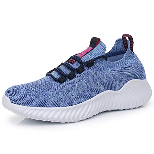 Dannto Hombres Mujer Zapatillas Calzado Deportivo Moda Casual Zapatos Tendencia Zapatillas Deportivas Zapatillas Deportivas Transpirables Fitness Casual (Azul,37)