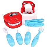ZXNRTU Pretender Juguete, Juguetes para niños Kit de Doctor con 9 Piezas Equipos de Dentista, Kit médico Duradero fingido para niños/Regalo de cumpleaños para niños (Color : Blue)