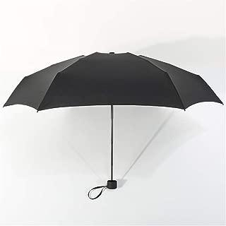 AUWANGAOFEI Creative Ultra Light Folding Pocket Umbrella, Mini Fresh UV Protection and Windproof 50 Fold Portable Folding Umbrella (Color : Black, Size : 20 inches)