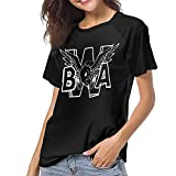 Photo de Kevin Come and Gates Logo T Shirt Womens Baseball Round Neck Short Sleeve Tops