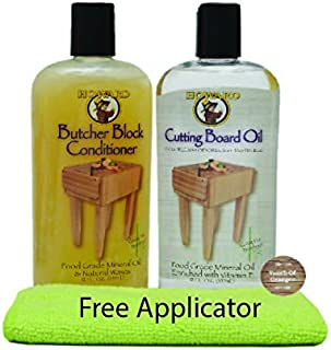 Howard Butcher Block Conditioner and Cutting Board Oil 12 oz, Food Grade Conditioner and Oil, Great for Heave Use Cutting Boards and Utensils, Re hydrate your Cutting Blocks