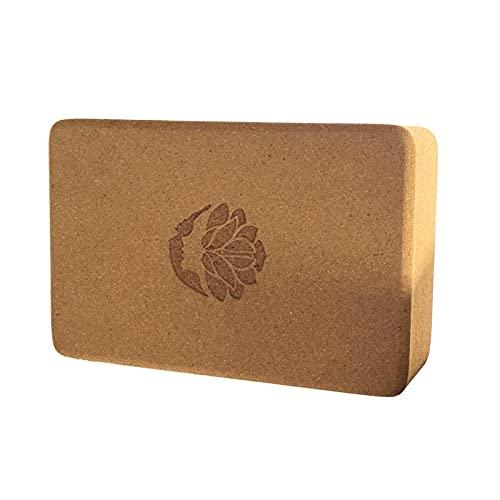 Pisamhid Bloque de corcho para yoga (23 x 15 x 7,5 cm)