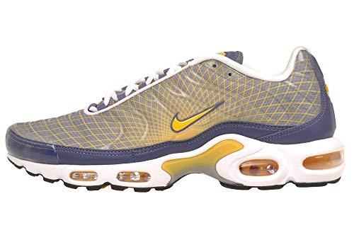 Nike Men's Air Max Plus OG, Steel/Spun Yellow-White-Black, 7 UK