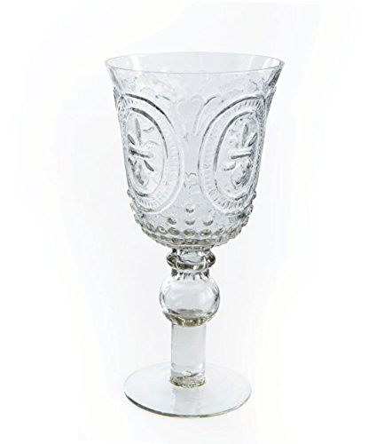 Napa Home & Garden Footed FDL Wine Goblet Clear, Off-White