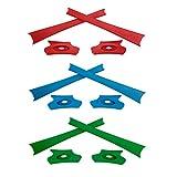 HKUCO Red/Blue/Green Replacement Rubber Kit For Oakley Flak Jacket /Flak Jacket XLJ Sunglass Earsocks