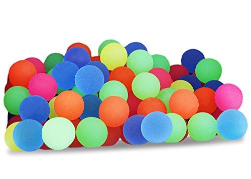 Flummis von Juvale (Set, 100 Stück) - Gummibälle, Springball, Hüpfball - Ideales Spielzeug für Kindergeburtstag, Schulfest, als Mitgebsel - Neonfarben - Durchmesser 2,3 cm