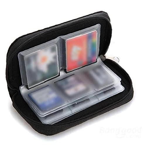 GGOOD 22 Slots Speicherkarten-Tasche wasserdicht SD-Kartenhalter-Tragetasche für Micro SDHC SDXC TF SIM-Karte CF-Black Bürobedarf
