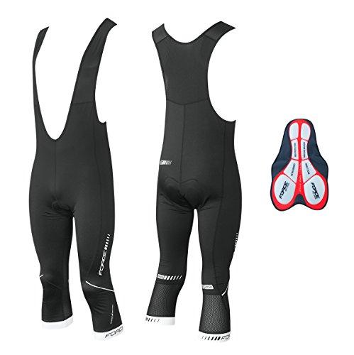 FORCE SS15 Z68 - Pantaloni da ciclismo 3, con bretelle, taglia XXL
