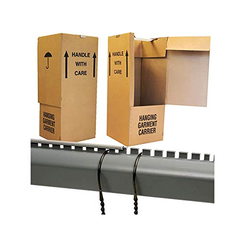 5 x Large Strong Wardrobe Cardboard Boxes with Hanging Rails for Moving Removal