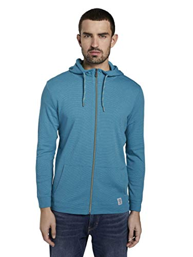 TOM TAILOR Herren Easy Jersey Jacket Weste, Grün ( 22380 - teal mocktwist )  , XL