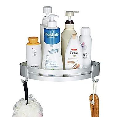 Gricol Bathroom Shower Shelf Triangle Wall Shower Caddy Space Aluminum Self Adhesive No Damage Wall Mount