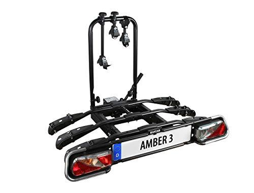 EUFAB 11555 Fahrradträger Amber 3, E-Bike geeignet, Schwarz, ca. 102 x 74 x 72 cm