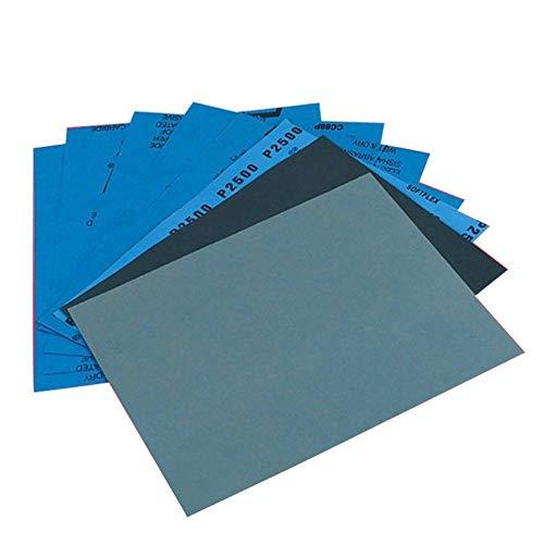 FYMIJJ Schleifpapier,Möbel Schleifpapier Kfz-Schleifen Papier Blatt Werkzeugschleifen Sortierkorn Trockenholz Nassoberflächenpolieren Schleiffinish, 180