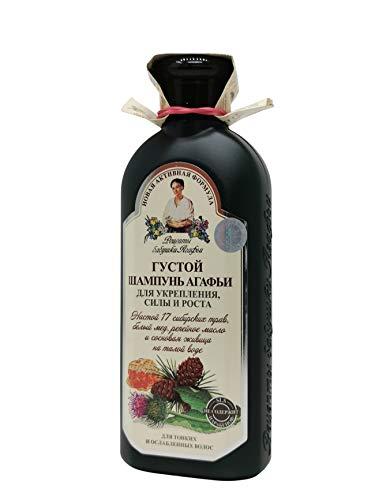 Shampoo For Hair Strength and Growth with 17 Siberian Herbs 350 ml. by Grandma Agafia's Recipes