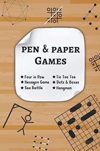 Pen & Paper Games: 2 Players Activity Book Paper & Pencil Games Travel...